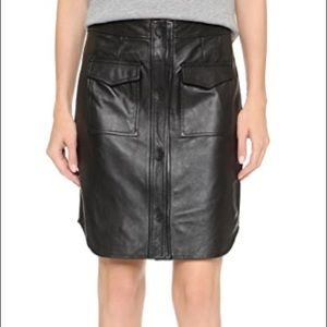 Opening Ceremony Leather Skirt